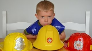 Fireman Sam Kids Surprise Fireman Hats Toys Fire Engine Feuerwehrmann Sam