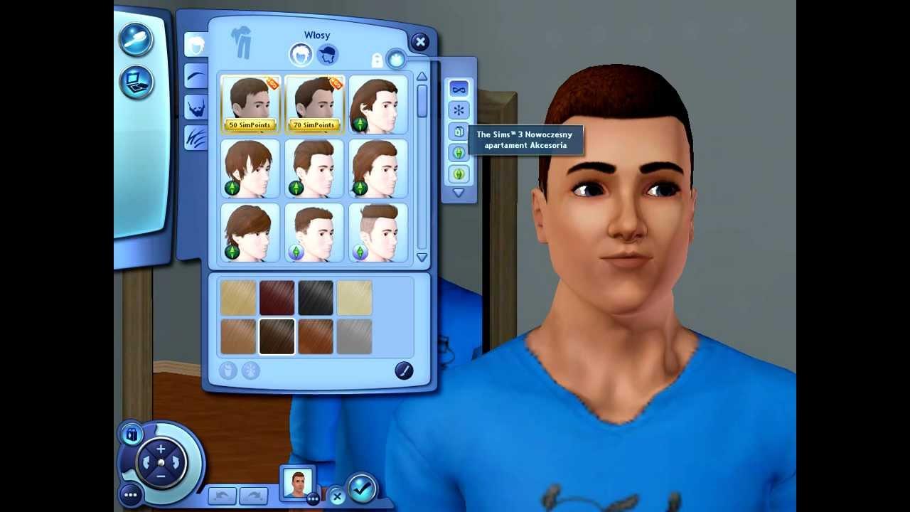 The Sims 3 Nowoczesny Apartament Ubrania I Fryzury Dla Chłopaka