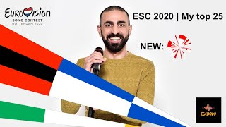 Eurovision 2020 | Top 25 (NEW: 🇬🇪) With Comments