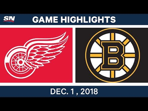 NHL Highlights | Red Wings vs. Bruins - Dec 1, 2018