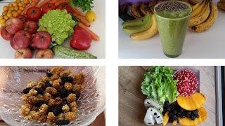 Exemples de repas frugivores crus (version printemps)