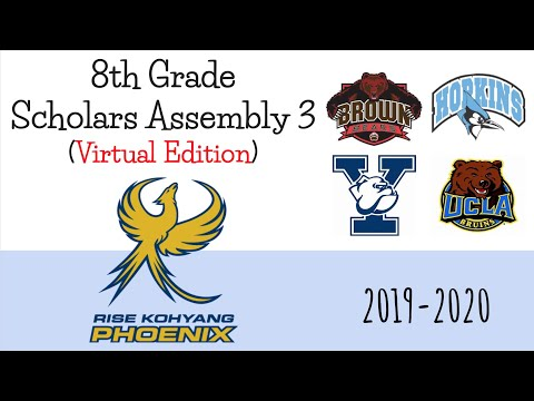 Rise Kohyang Middle School 8th grade Scholar's Assembly #3 2019-20 (Virtual Edition)