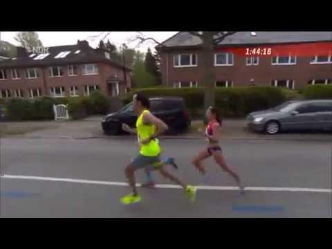 Marcel Bräutigam & Tobias Sauter als Pacemaker für Sabrina Mockenhaupt beim Hamburg-Marathon 2015