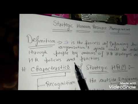 Strategic Human resource management in hindi