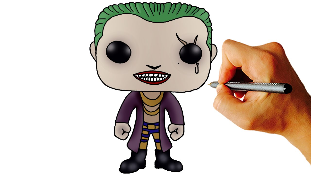 How To Draw Joker Chibi From Suicide Squad Step By Step Drawing