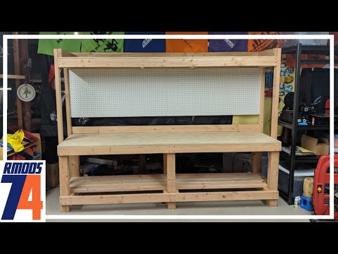 DIY Self Standing Workbench With Shelving Tutorial
