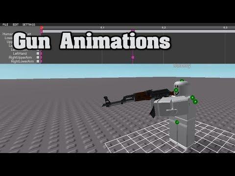 Roblox How To Animate A Gun Read Description Youtube