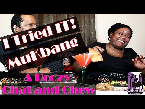 I tried it Mukbang - A Boozy Chat and Chew - Shout out and give away announcement