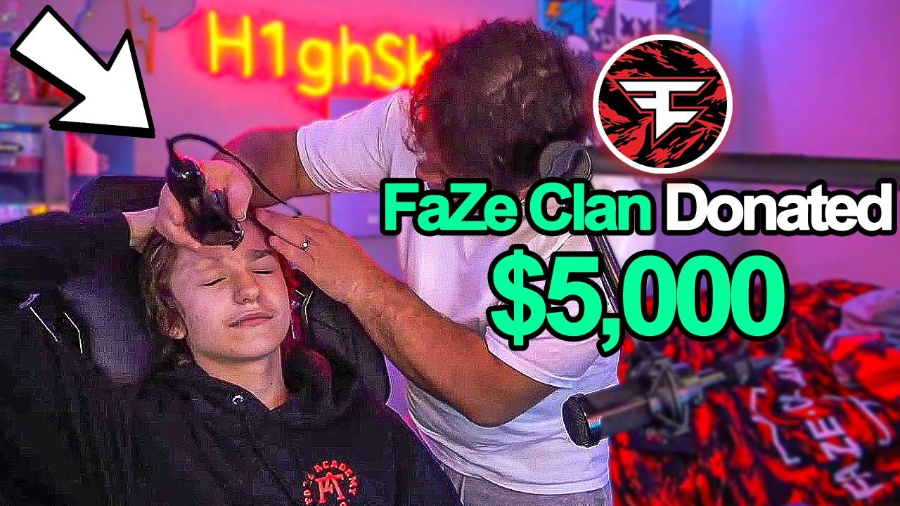 I Was Donated $5,000 To Shave My Head LIVE...