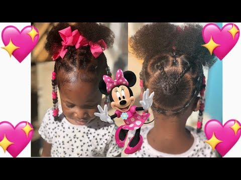 Minnie Mouse Hairstyle | Natural Hairstyles For Kids