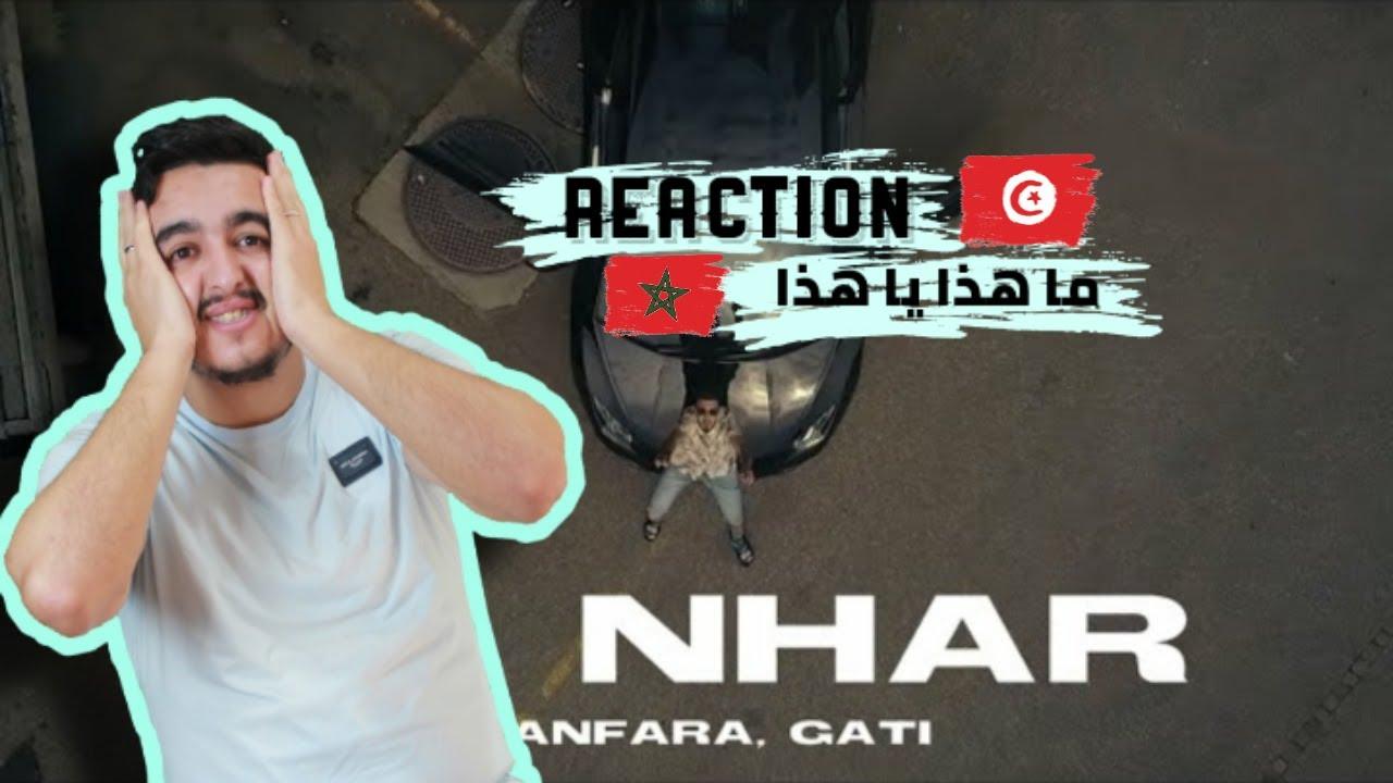 Sanfara ft. Gati - Lil Nhar   ليل نهار REACTION ردة فعل مغربي على راي تونسي أو ما هذا العجب ??