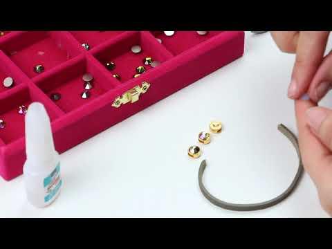 Handmade jewellery: Swarovski stones ♡ DIY