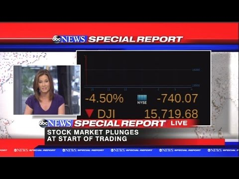 Stock Market Plunges 1000 Points (6%) On The Open 8-24-15