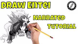 Draw legendary Pokemon Draw Entei How to draw Entei Learn to draw legendary Beasts Draw Pokemon