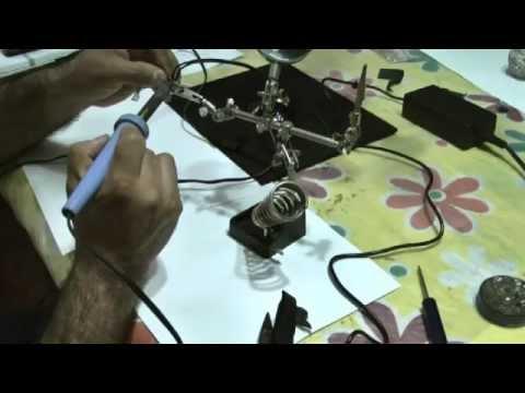 Construccion de arbol de navidad con luces leds armado - Arbol de navidad hecho de luces ...