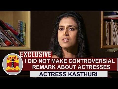 EXCLUSIVE | I did not make controversial remark about actresses - Kasthuri | Thanthi TV