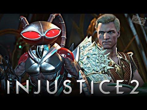 Injustice 2: ALL Black Manta Intro Dialogues With Aquaman!!