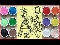 Đồ chơi trẻ em TÔ MÀU TRANH CÁT CON CHIM NON - Colored sand painting toys (Chim Xinh)