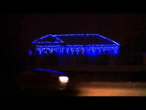 Musical Christmas light display