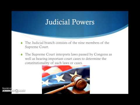 Lesson on Separation of Powers and Checks and Balances