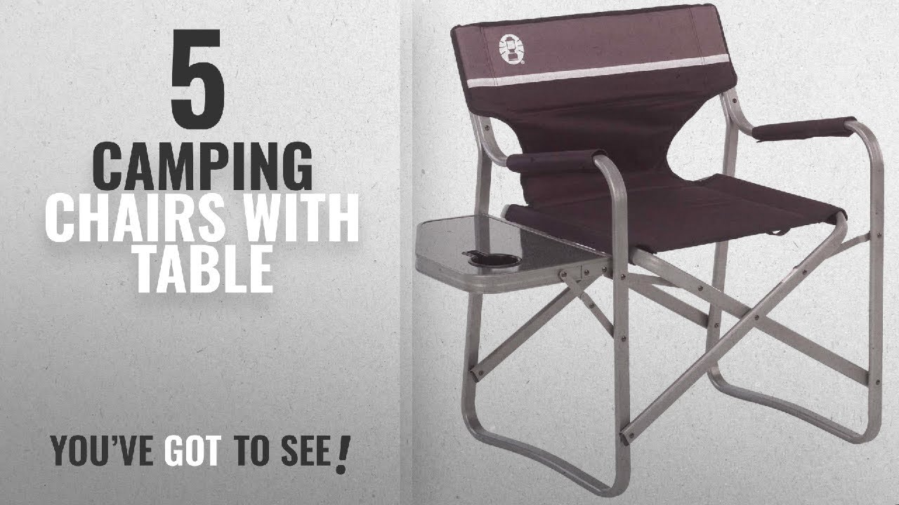 Coleman Portable Deck Chair Ikea Wooden Top 5 Camping Chairs With Table 2018 Side