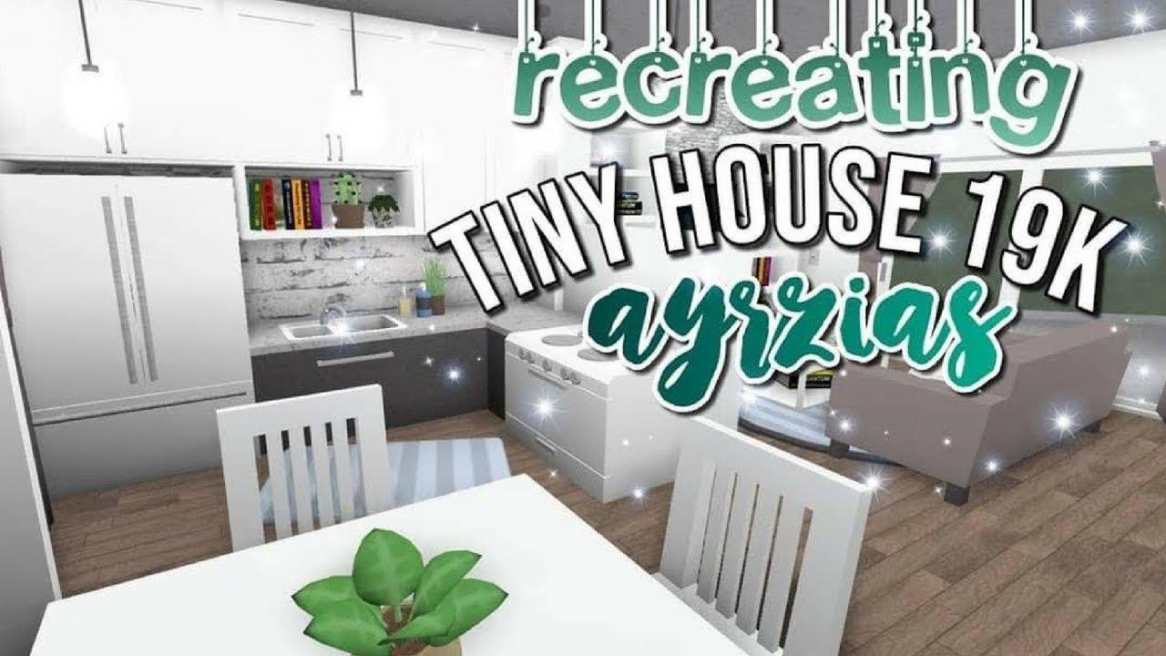 Bloxburg Recreating Ayzria S Tiny Home 19k Youtube