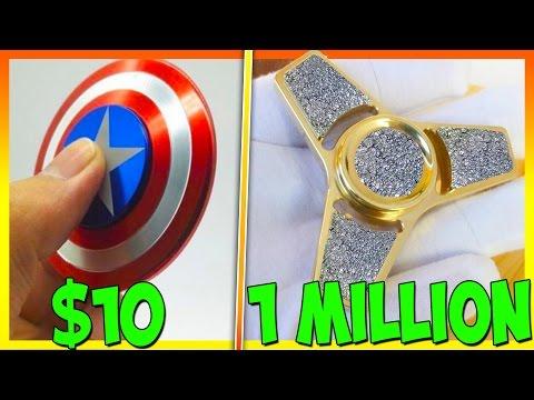 $10 FIDGET SPINNER VS 1 MILLION DOLLAR DIAMOND FIDGET SPINNER
