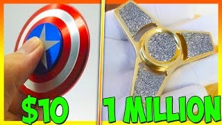 $10 FIDGET SPINNER VS 1 MILLION DOLLAR DIAMOND FIDGET SPINNER