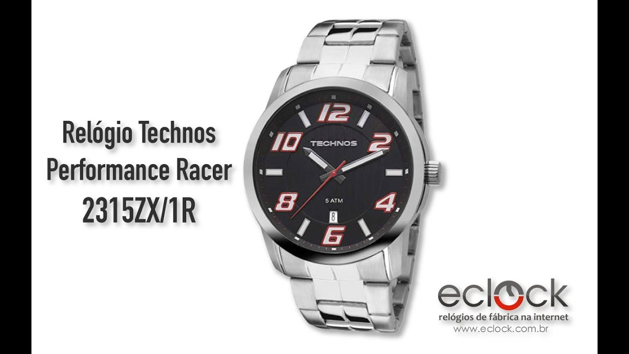 eac2d2c4111 Relógio Technos Masculino Performance Racer 2315ZX 1R - Eclock. Eclock  Relógios
