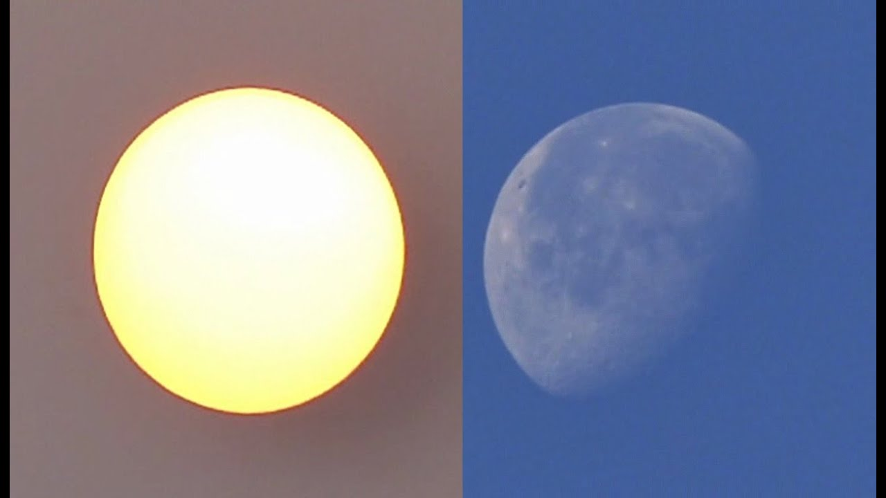 sun and moon together in earth youtube
