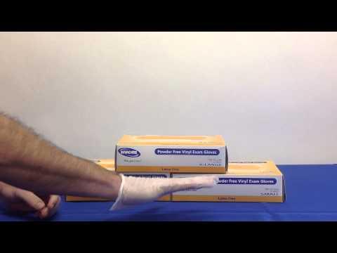 Invacare Powder Free Vinyl Exam Gloves