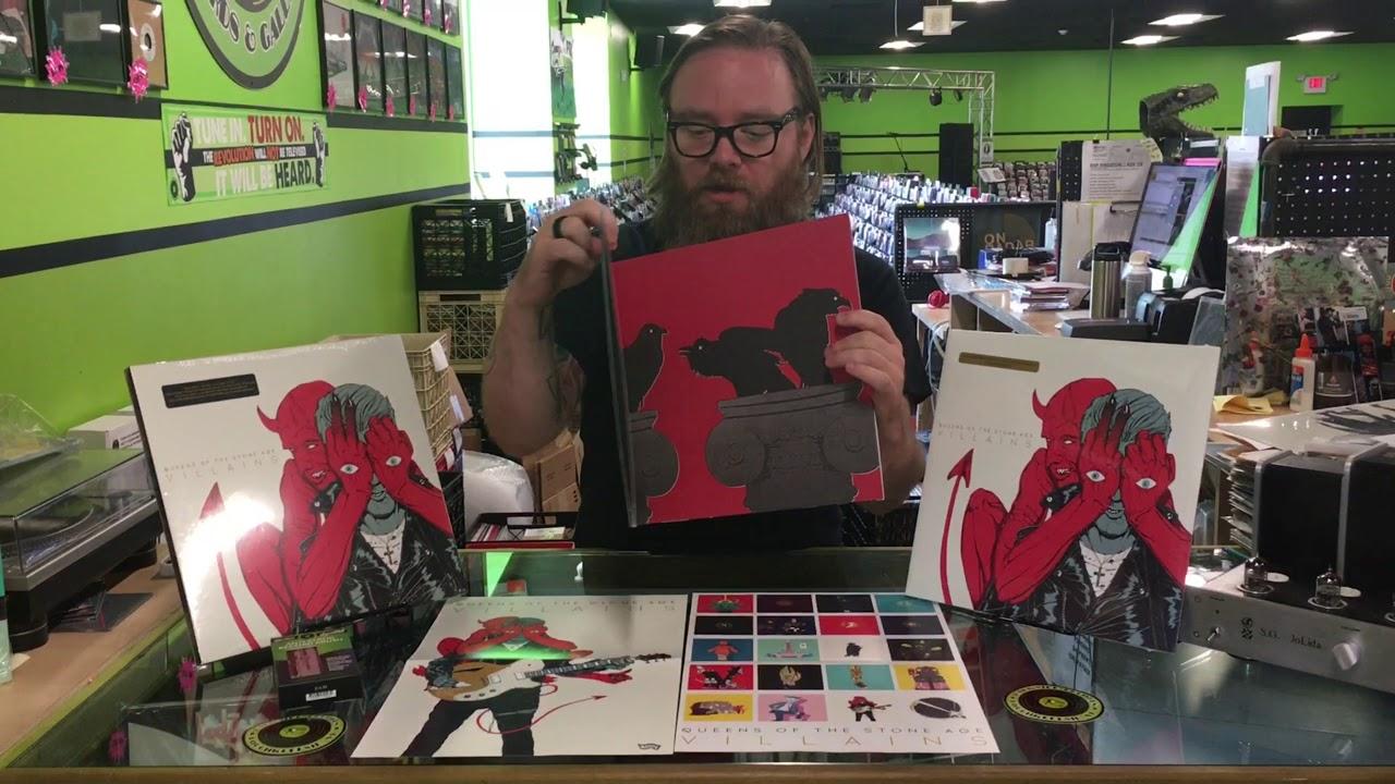 Qotsa Villain Unboxing Indie Exclusive Vinyl Edition