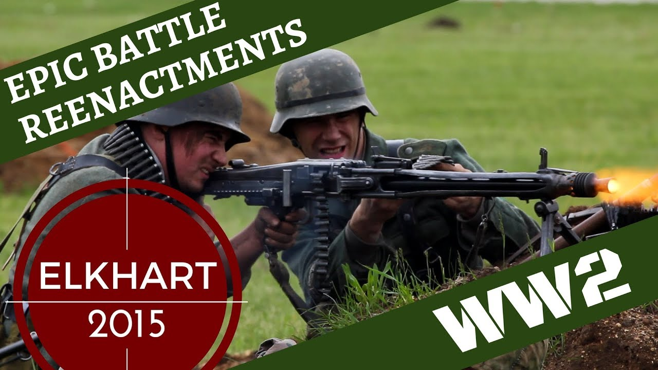 Download Epic WW2 Reenactment [with Aircraft] -- Elkhart 2015
