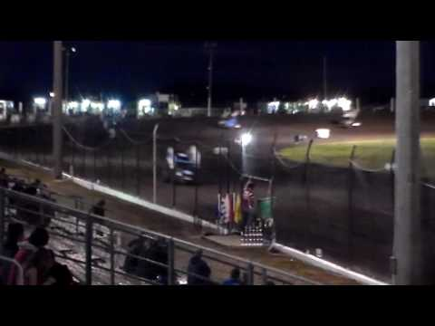 UMSS Sprint Car Heat 1 @ Hancock County Speedway 06/30/17