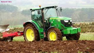 Ploughing with the John Deere 6150R and MF 725 Plough