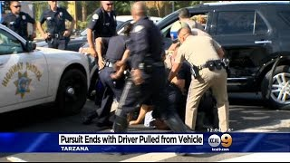 Suspect Arrested After High Speed Chase Through San Fernando Valley