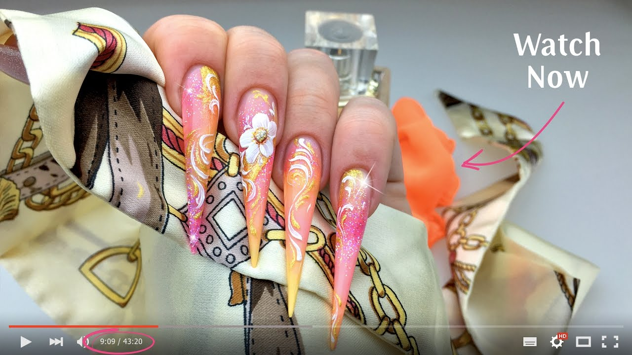 Magic Gel System - Blooming Magic Gel Nail Tutorial - YouTube