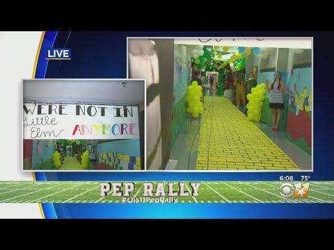 CBS 11 Pep Rally: Little Elm High School Senior Hallway