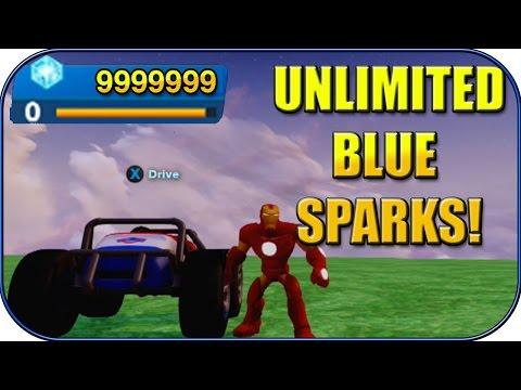 Disney Infinity 2.0 - UNLIMITED BLUE SPARKS! UNLOCK ALL TOY BOX TOYS! - DISNEY INFINITY TRICKS