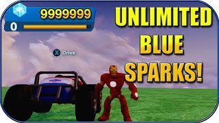 Disney Infinity 2.0 - Unlimited Blue Sparks! Unlock All Toy Box Toys! - Disney Infinity Tricks