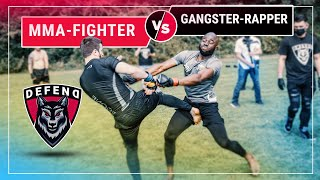 MMA-Fighter vs. Gangster-Rapper | German Streetfight | DEFEND