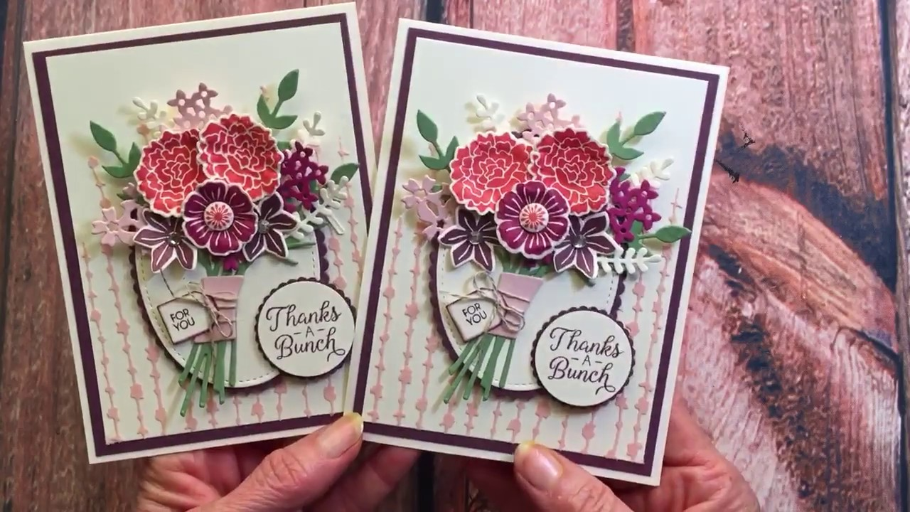 how to create a stampin' up beautiful bouquet wow card