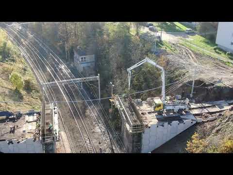 Prace nad budową wiaduktu w Radlinie - listopad 2020