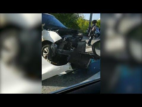 Внедорожник проломил «десятку» в Новокуйбышевске