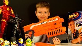 NERF War: N-Strike Elite Demolisher 2-in-1 Unboxing and Review Kids Videos by KokaTube