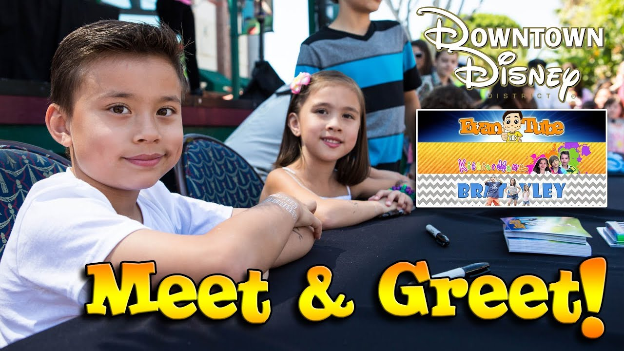 Evantubehd meet greet in downtown disney with bratayley youtube premium m4hsunfo
