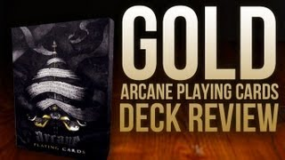 Deck Review - Gold Arcane Playing Cards RARE Playing Cards
