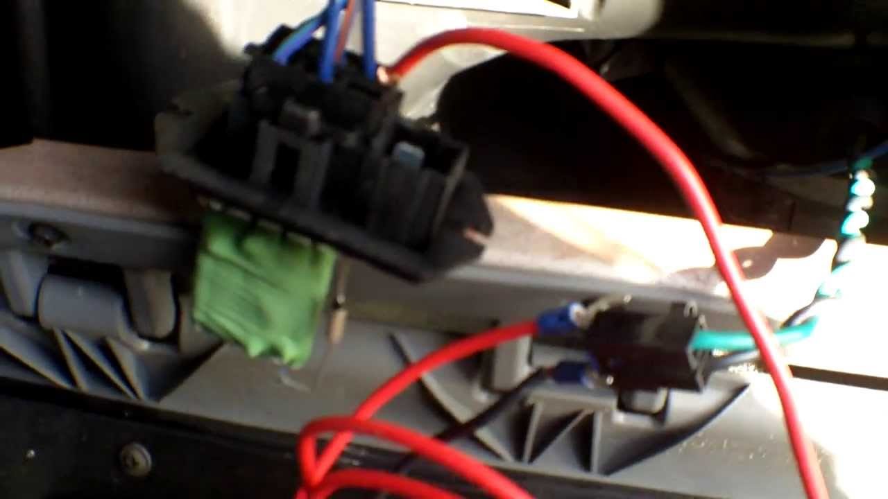 test dodge caravan blower motor and resistor without a volt meter - youtube