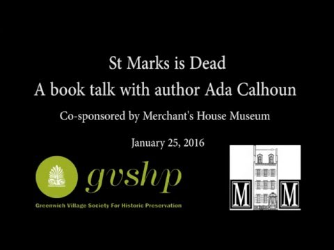 St Marks is Dead: A book talk with author Ada Calhoun