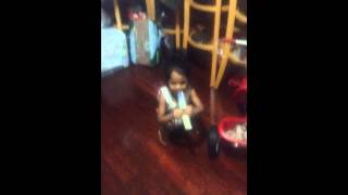 Trini baby dancing to Santa looking for a wife